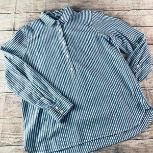 NWOT JCrew Linen Blend Popover Shirt sz M